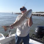 Bull Red caught nearshore at Fernandina Beach