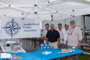 AIGA members at Amelia Island Redfish Spot Tournament registration table