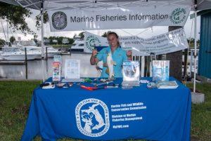 Florida Fish and Wildlife display at Amelia Island Redfish Spot Tournament