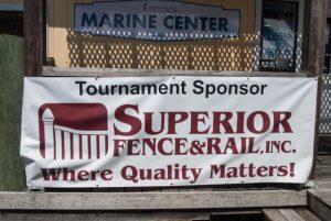 Superior Fence & Rail Banner at Redfish Spot Tournament