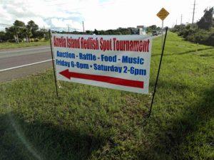 Redfish Spot Tournament sign