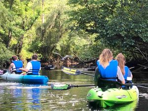 Kayaking backwaters of Amelia Island